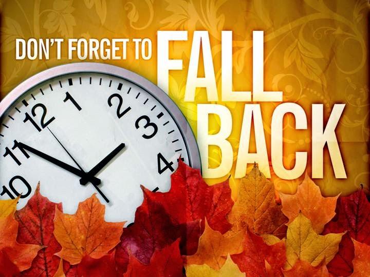 TIME CHANGE - Fall Back - Sunday, November 1 - Atlanta