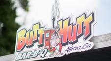 butt hutt bar-b-q logo