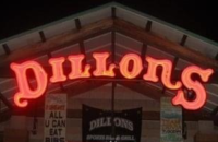 dillons sports bar entrance sign