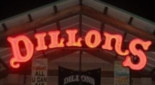 dillons sports bar entrance sign