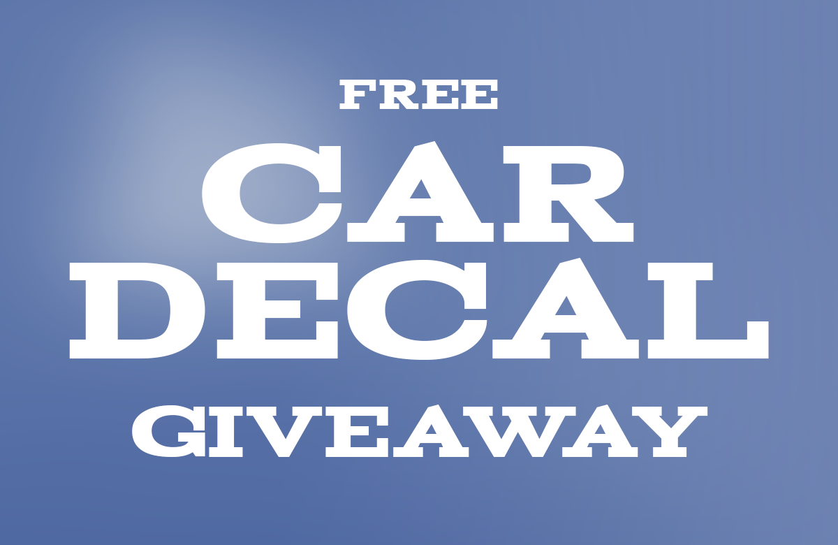 Free Decal Giveaway