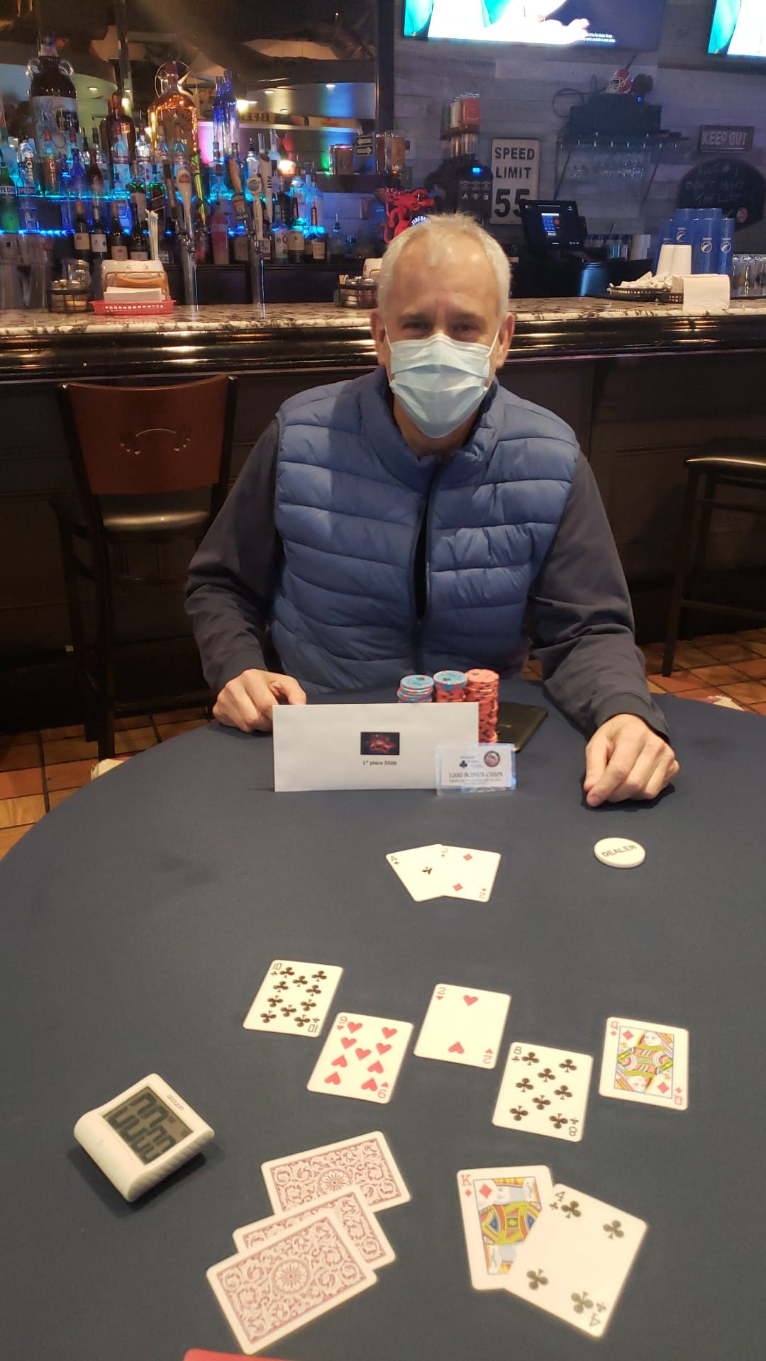 Bill Trinkle wins $777 November Monthly